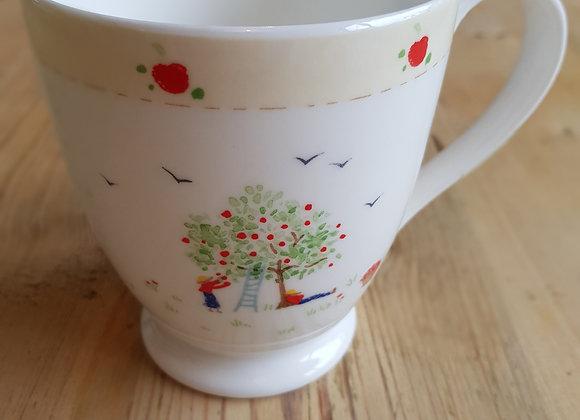 Tall Apple Picking Mug