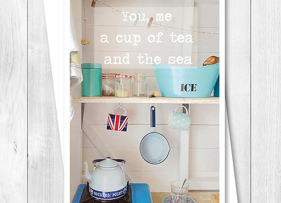 Greeting Card - Single - You me a cup of tea