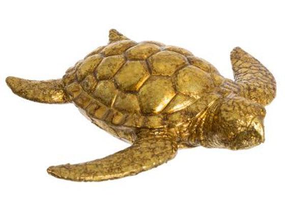 Decorative Turtle - Resin / Gold 18cm