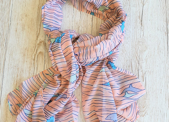 Dolphin Scarf - Pink