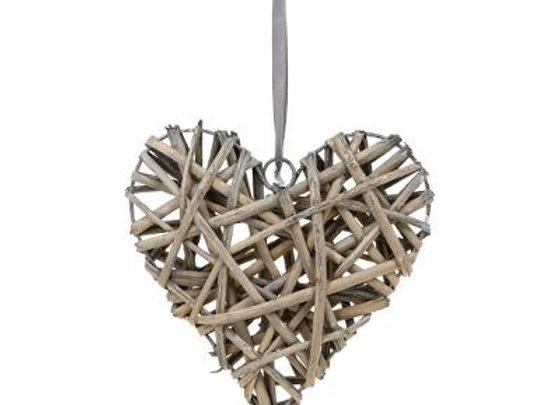 Willow Grey Decorative Heart