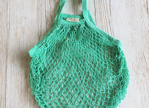 French Style String Shopping Bag - Mint Green