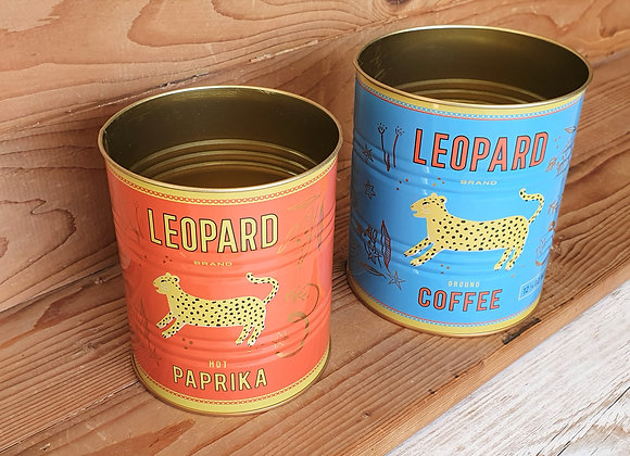 Leopard Storage Tins (Set of 2)