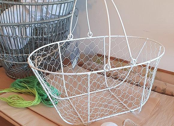 Metal Basket White