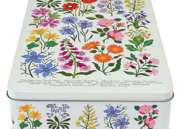 Wild Flowers Biscuit Tin