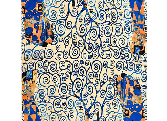 Klimt Tree Of Life Painting Print Silk Scarf