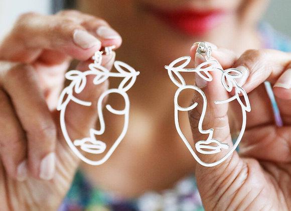 Laurel Leaf Earrings In Silver