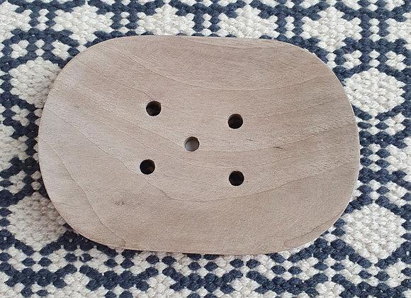 Walnut Wood Soap Dish - Single