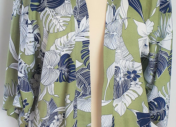 Tropical Green Kimono
