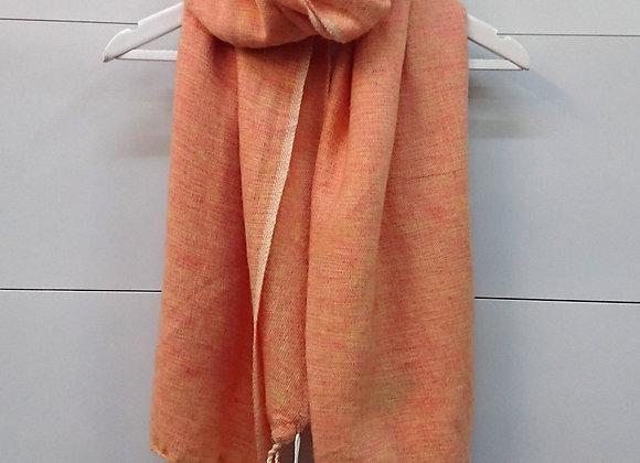 Plain Colour Wool Tassel Scarf - Orange