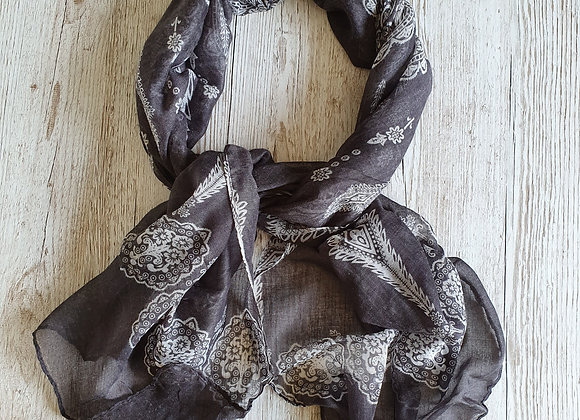 India Scarf - Charcoal