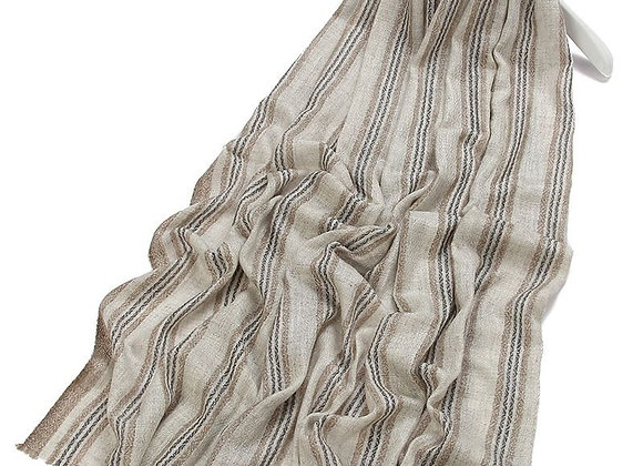 Four Stripes Pure Cashmere Scarf