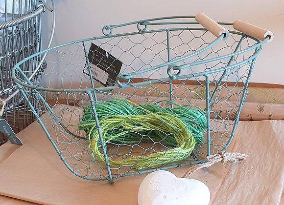 Metal Basket Green