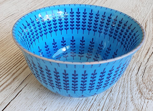 Shaker Print Stoneware Bowl