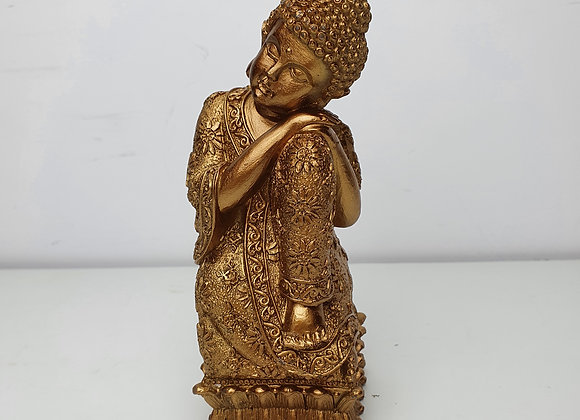 Resting Buddha Candle - Gold