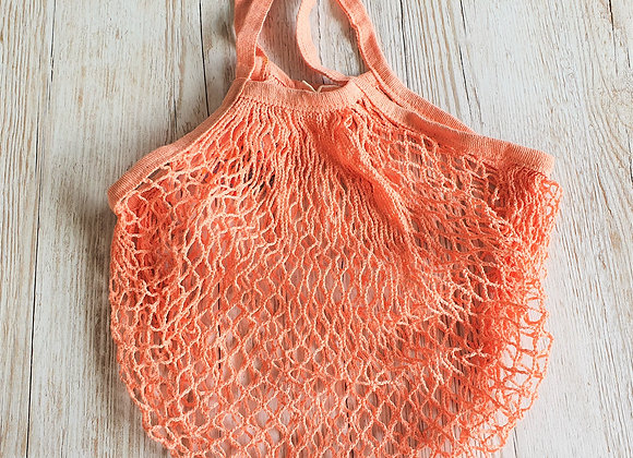 French Style String Shopping Bag - Coral