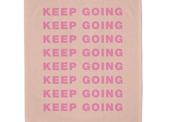 Keep Going Tea Towel