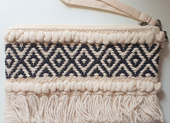 Macrame Clutch Bag With Carry Strap