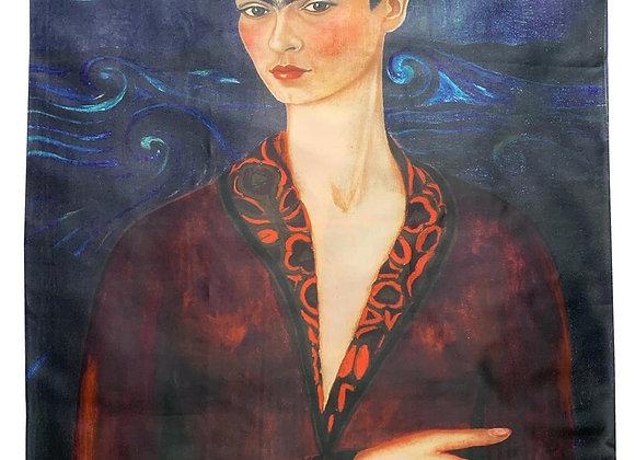 Frida Kahlo 'Self Portrait In A Velvet Dress' Scarf
