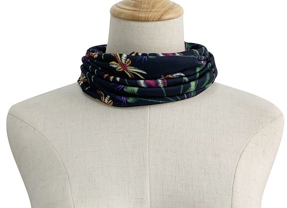 Embroidered Effect Snood - Navy