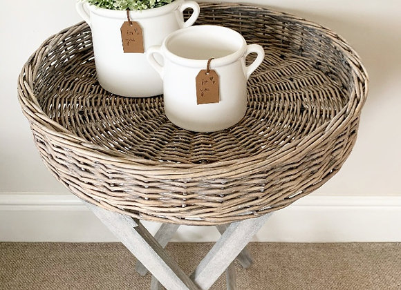 Wicker Tray Table - Round