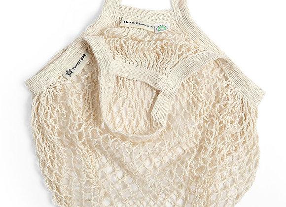 Organic Short Handled String Bag - Natural