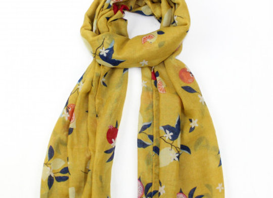 Fruit Tree Scarf - Yellow