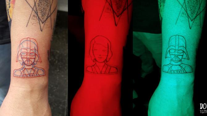 Você conhece tatuagem em Double exposure?