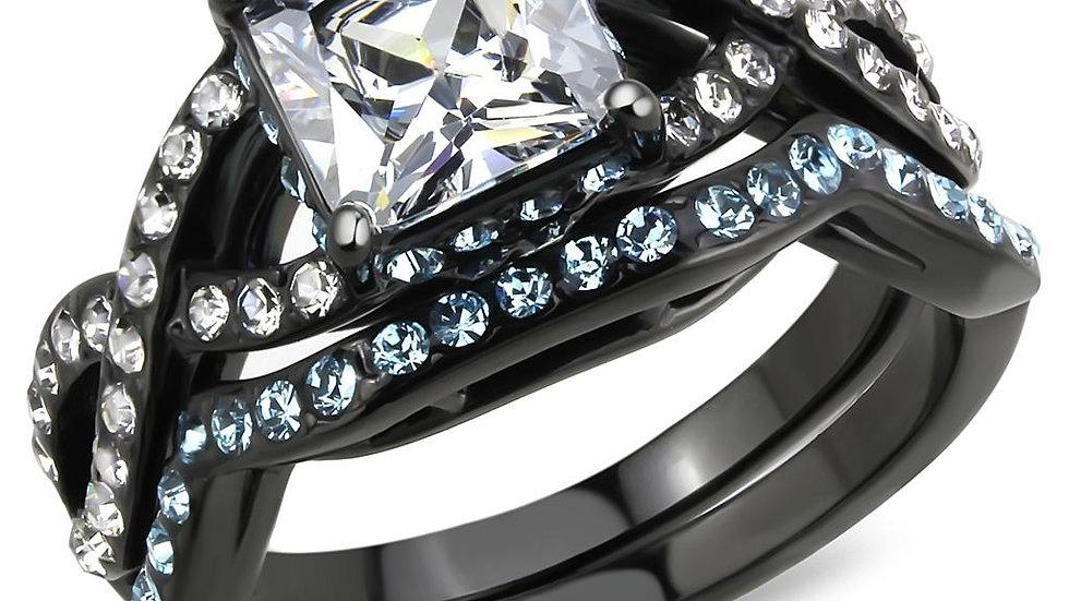 TK3457 IP Black(Ion Plating) Stainless Steel Ring