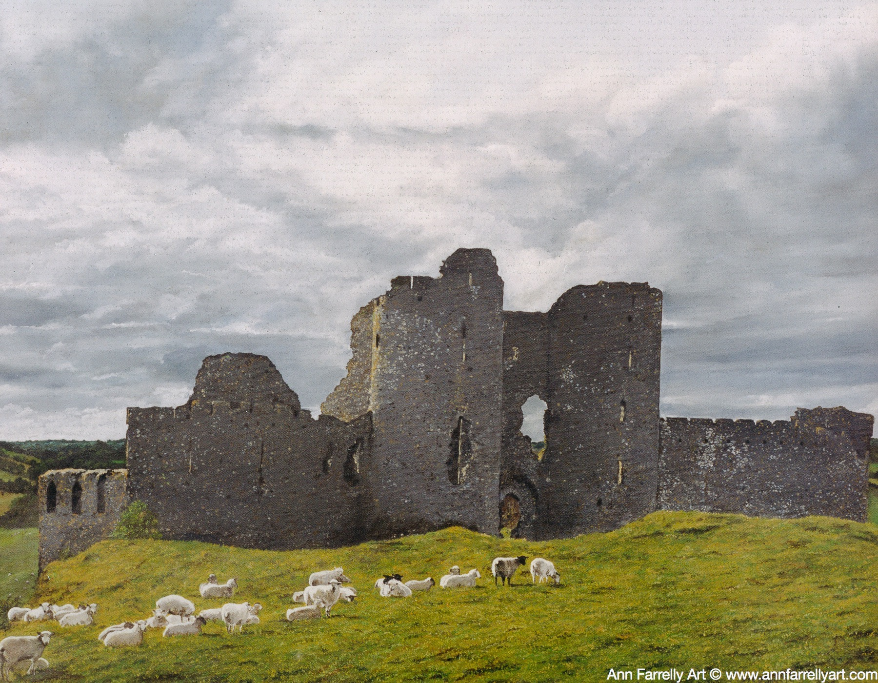 (AF-52)  Grazing Castle Roche (SOLD)