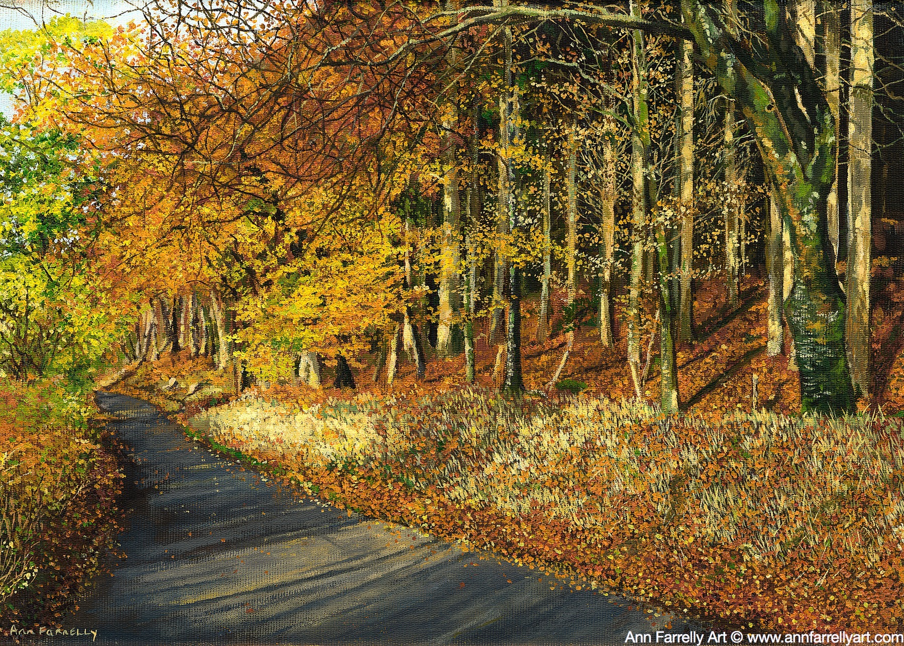 (AF-6) Autumn Along The Road (SOLD)
