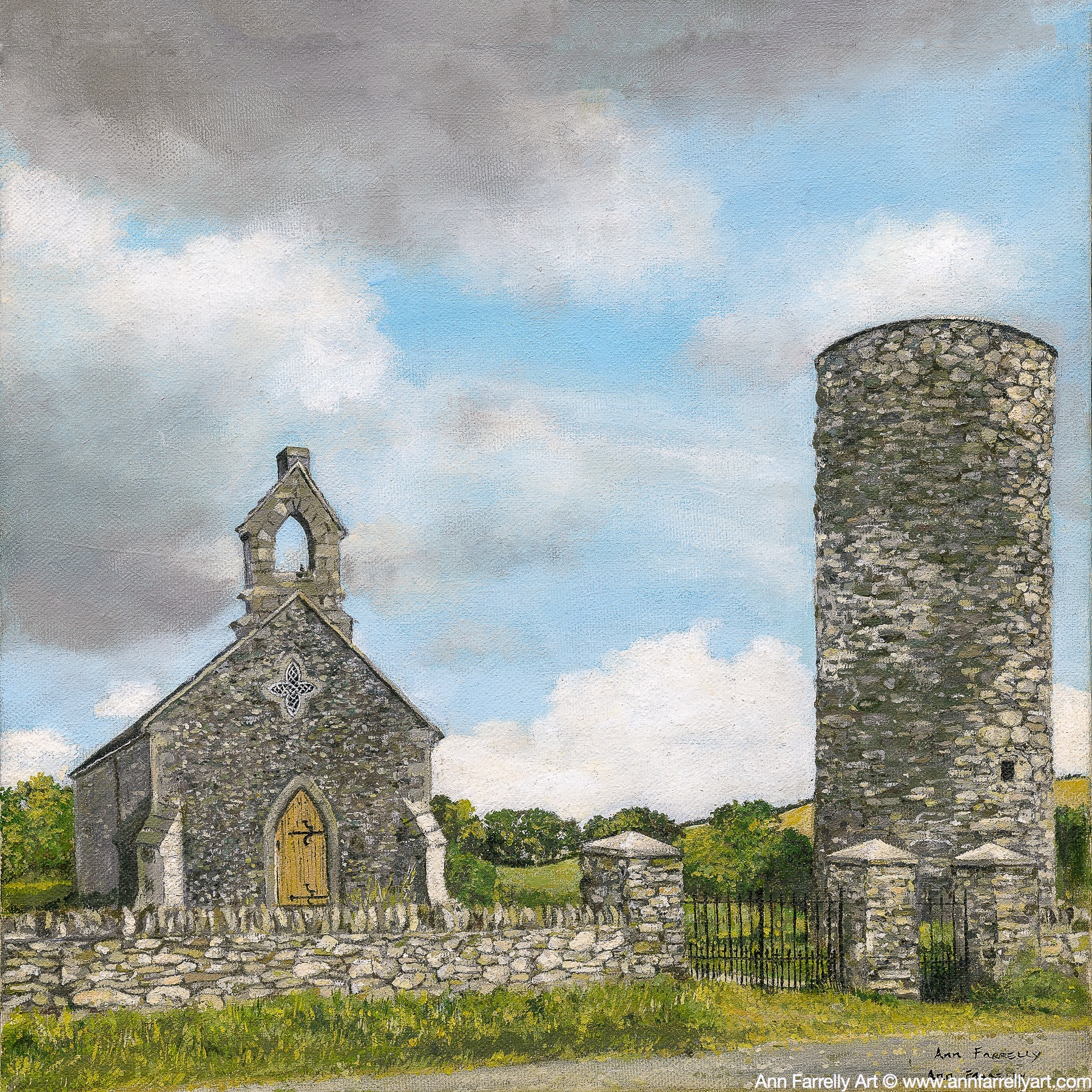 (AF-41) Old Church & Round Tower
