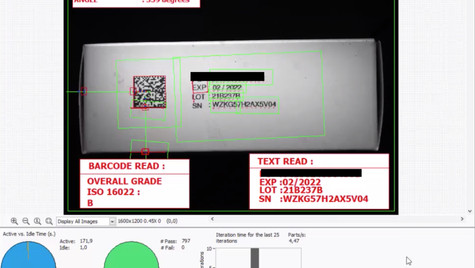 BARCODE DECODING & GRADING, OCR READING, AND PRINT POSITIONING