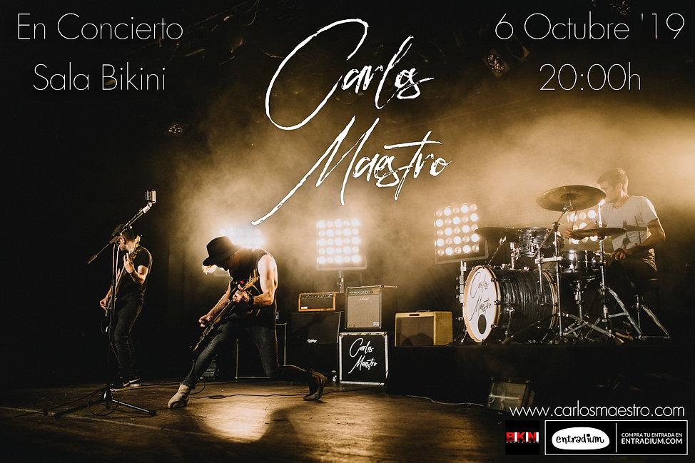 Cartel Concierto Carlos Maestro 1 - 6 oc