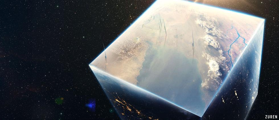 Concept Art, cubic planet representation