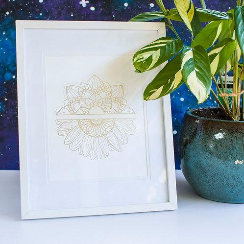 A4 Foil Framed Print - White