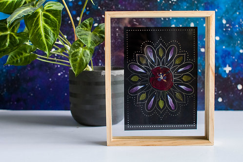 Pressed Flowers with Foil