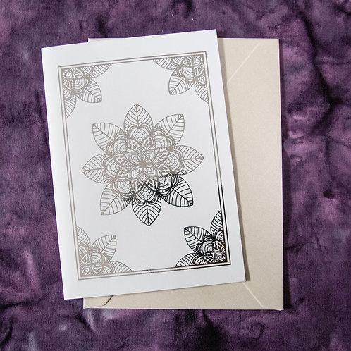 Foil Gift Card - Silver Mandala