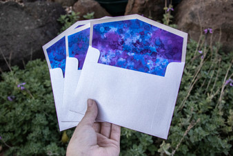 HAND INKED ENVELOPE LINERS