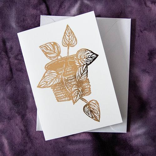Foil Gift Card - Rose Gold Ivy