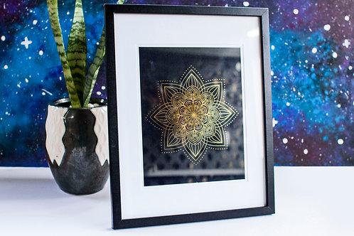 A4 Foil Framed Print - Black