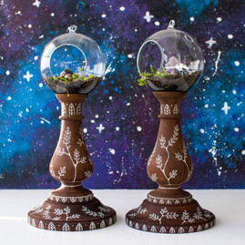 CANDLE STICK PLANTERS