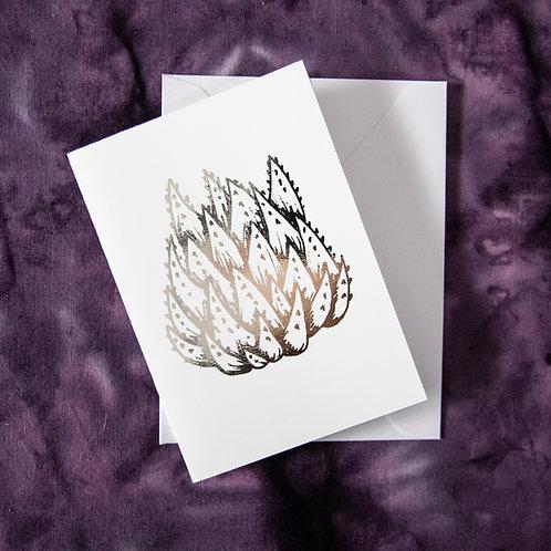 Foil Gift Card - Silver Succulent