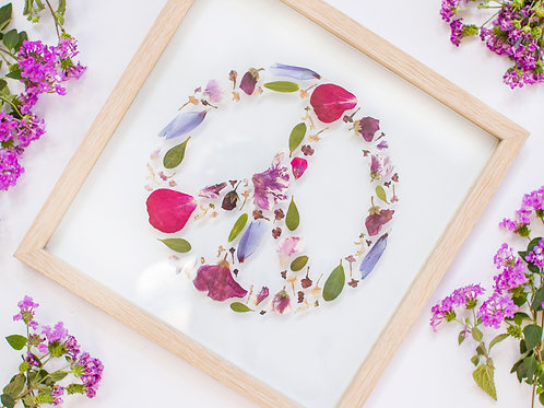 Pressed Flower Peace Sign