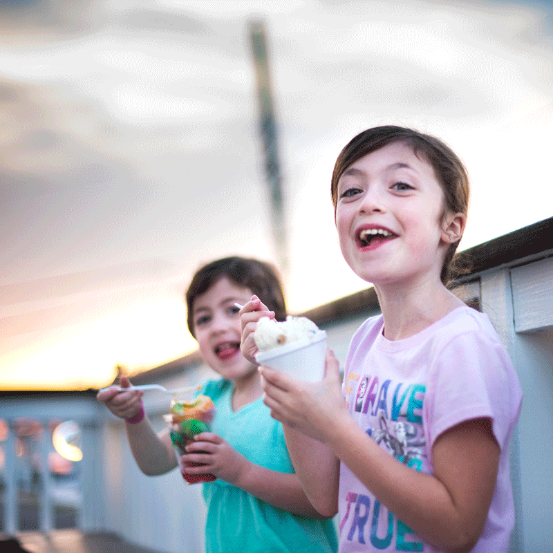 enjoying-ice-cream-outside-the-meltdown-lbi