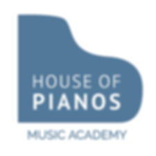 House of Pianos - Logo - Square - Mid Bl