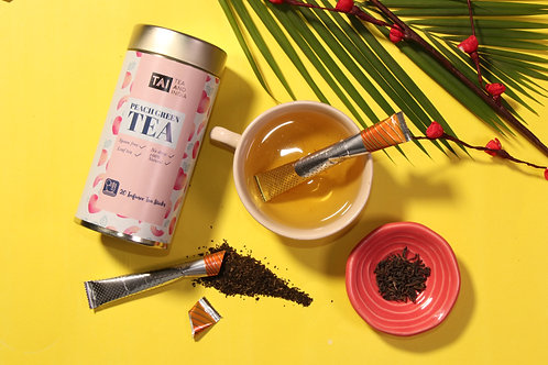 Peach green tea infuser