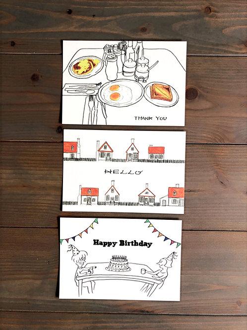 メッセージ入りポストカード3枚セット【送料無料】
