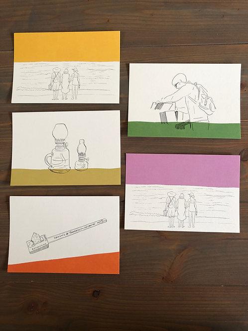 sketchポストカード5枚セット【送料無料】