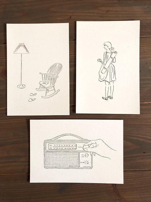 心地よさのありかポストカード3枚セット【送料無料】